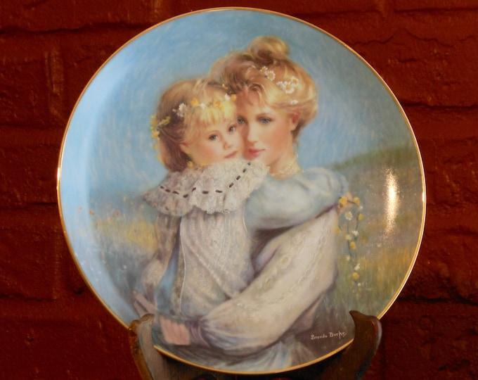 Brenda Burke 1989 Precious Embrace Plate