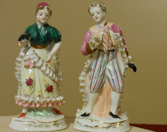 Male & Female Victorian Masquerade Figurines