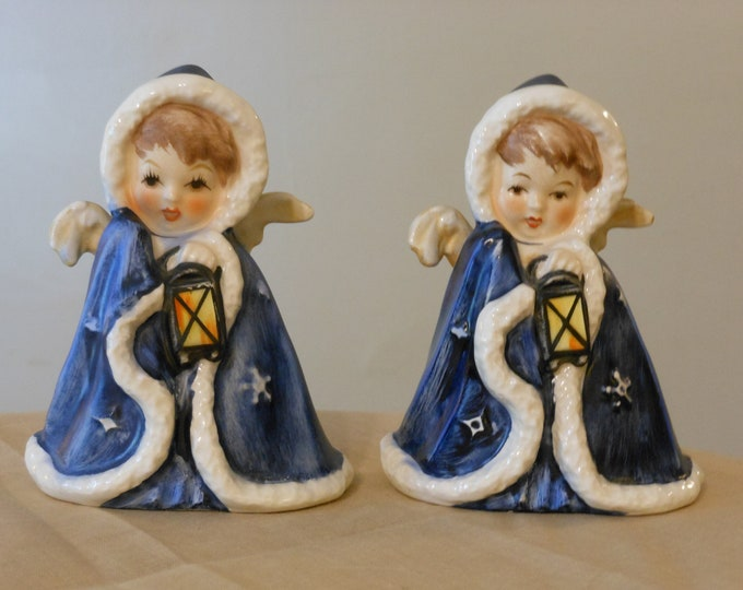 """Signed """"Robson"""" Goebel Angels With Lanterns: 1958"""