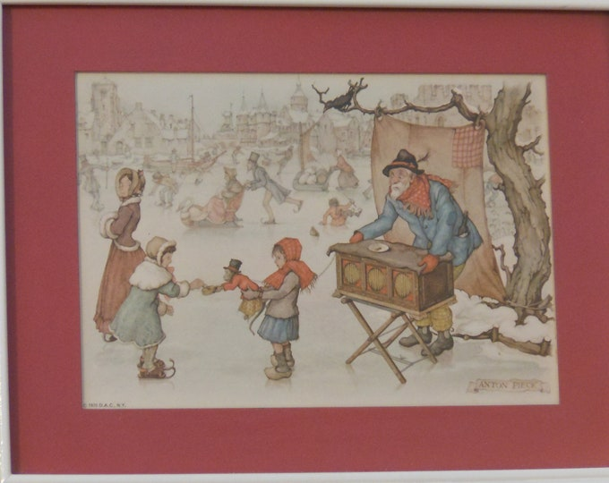 Two Anton Pieck Vintage Framed Prints