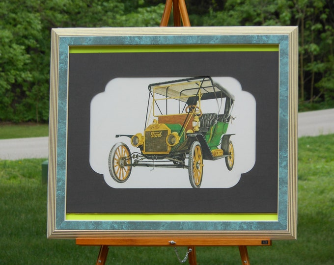1910 Ford Framed Print by E.R. McIntosh