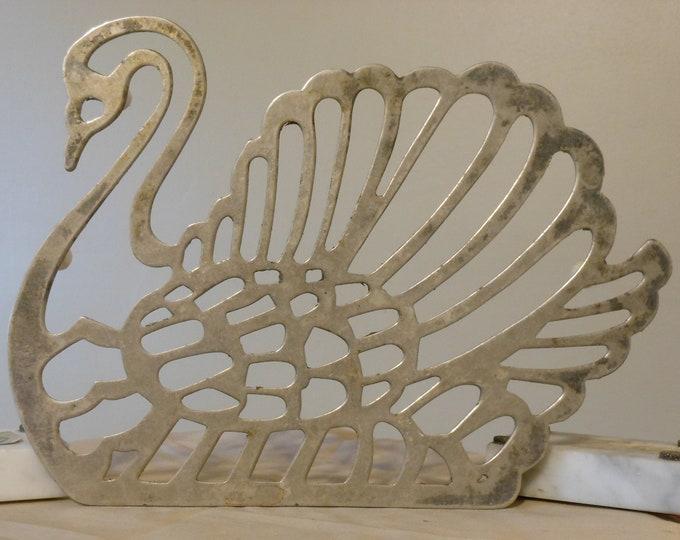 Brass Swan Vintage Trivet