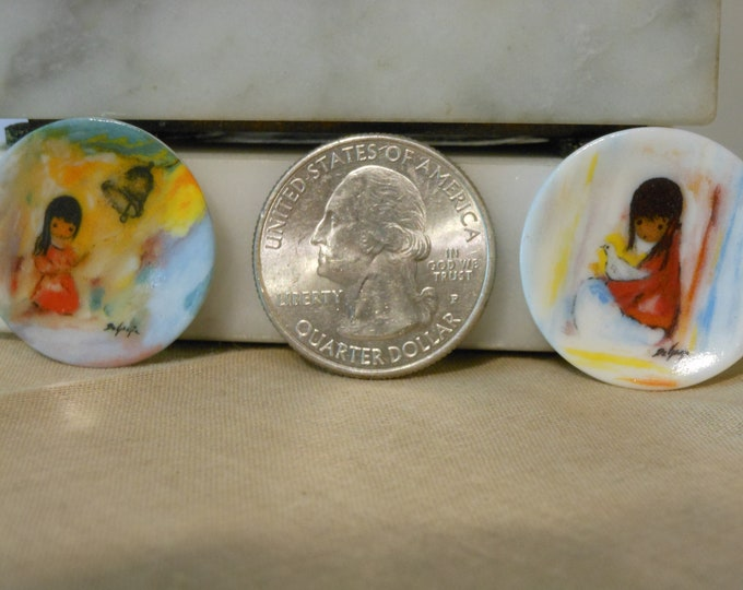 Two Signed and Numbered Hand Painted Miniature Plates