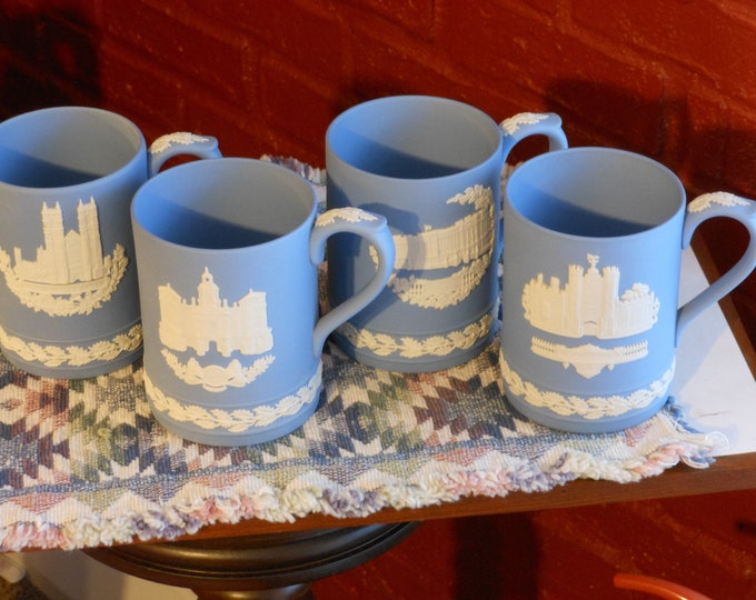 Wedgwood Jasper Christmas Mugs 1977-1980