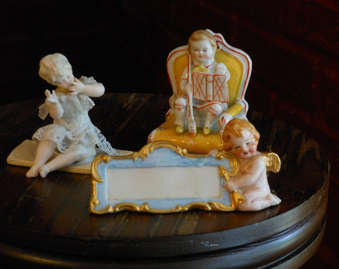 Three Miniature German Vintage Figurines