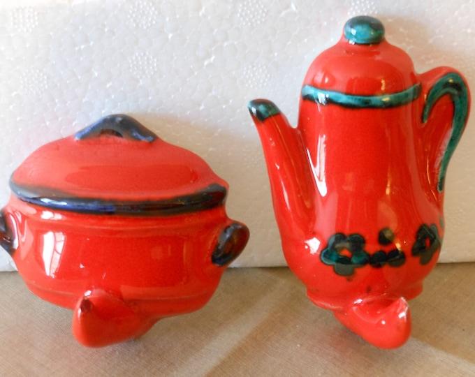 Two Vintage Ceramic Kitchen Hooks