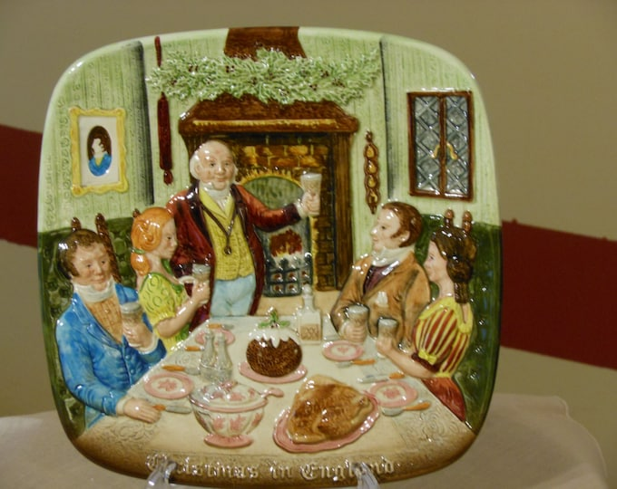 Christmas in England Collectors Plate. John Beswick, England. Royal Doulton. (1972)