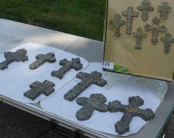 Set of Seven Cedar Creek Kirkland's Heavy Wall Crosses