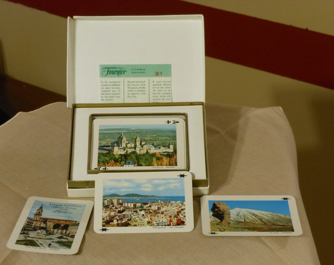 Heraclio Fournier Souvenir Playing Cards 54 Colour Views of Spain (1966)