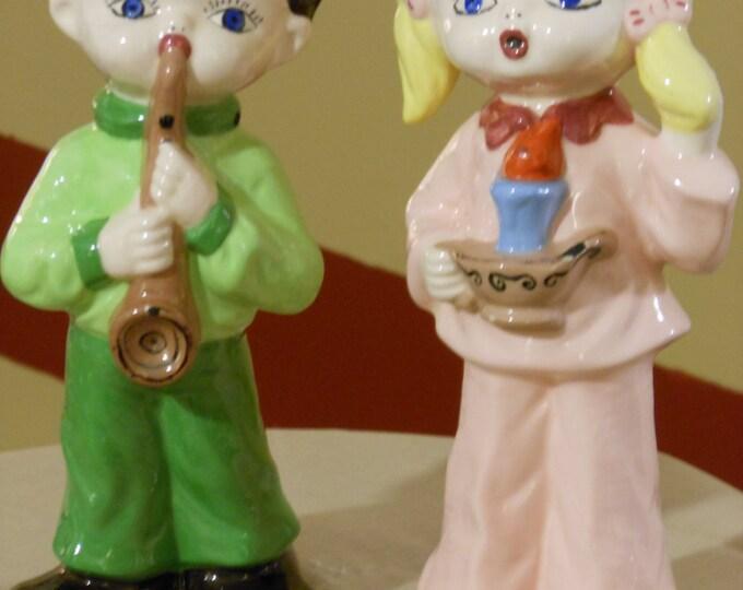 Larger, Heavier Boy & Girl Figurines