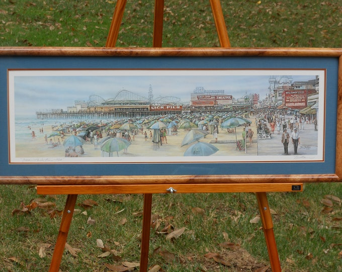 Ocean Park and Lick Pier--1926 by Tom Brittain, Signed. Four-color offset litho.
