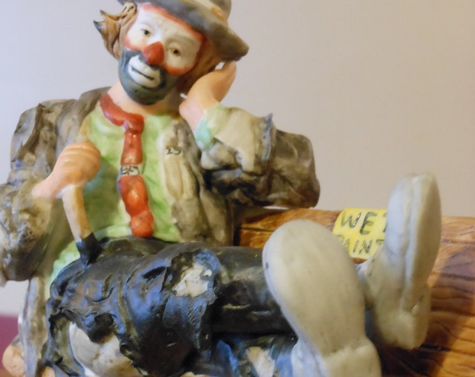 Flambro Emmett Kelly Jr. Miniature Collection Clown Figurine