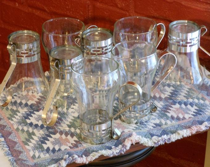 A Set of Eight Hazel Atlas Soda Glasses