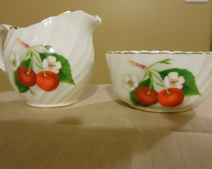 Adderley Fine Bone China Mini Open Sugar Bowl and Mini Creamer