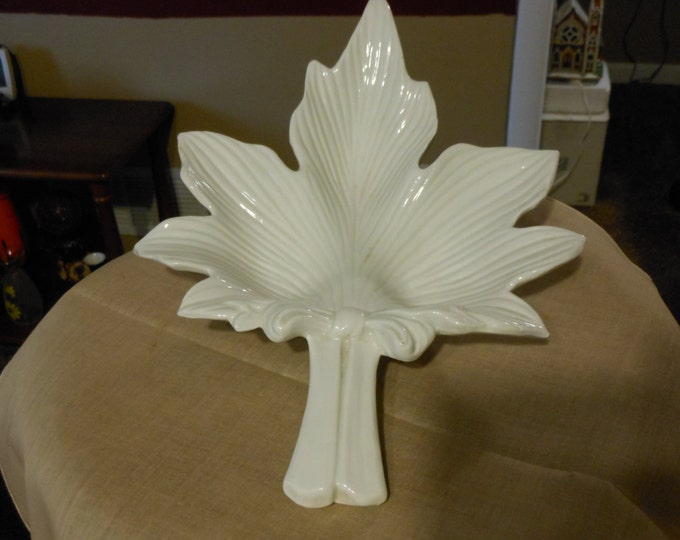 Italian Leaf-Shaped Candy Dish