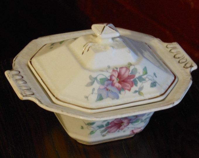 Vintage Edwin M. Knowles Candy/Sugar Bowl