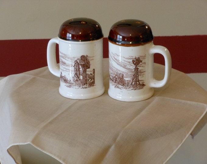 Enesco Sky and Plains Salt and Pepper Shakers