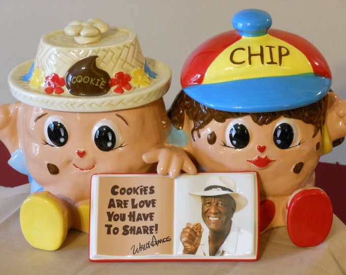 Famous Amos Collector Series #1 Cookie & Chip Double Cookie Jar