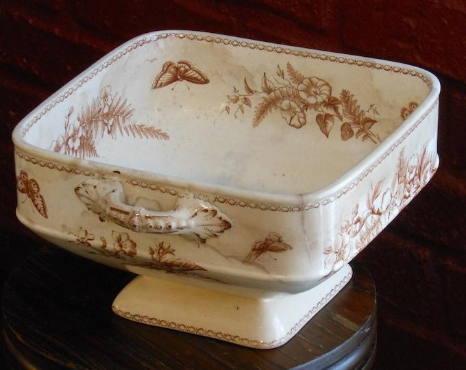 Antique Two-Handled Pedestal Bowl