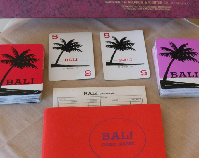 Selchow & Righter Scrabble Brand Bali Card Game