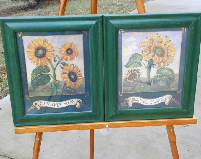A Pair of Sunflower Prints