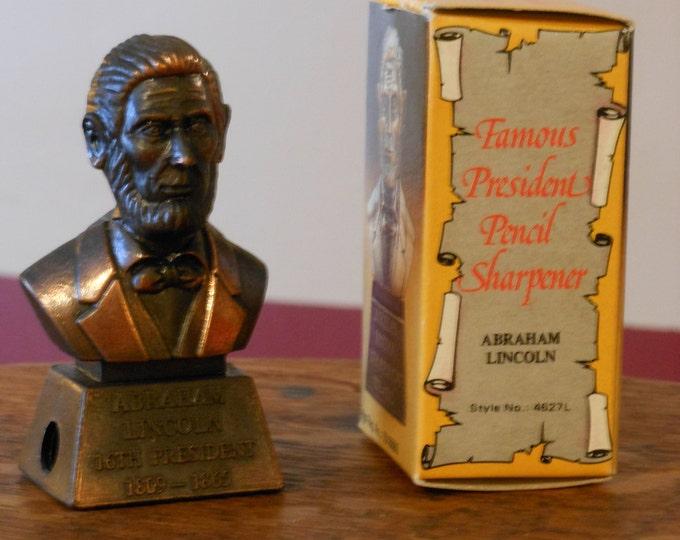 Abraham Lincoln Die Cast Pencil Sharpener