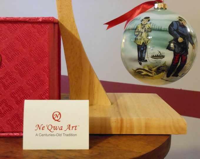 Ne'Qwa Art Currier & Ives NIB Christmas Ornament