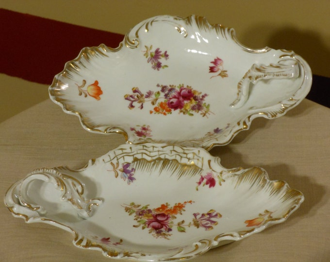 A Pair of Vintage Royal Saxe Germany Candy Bowls