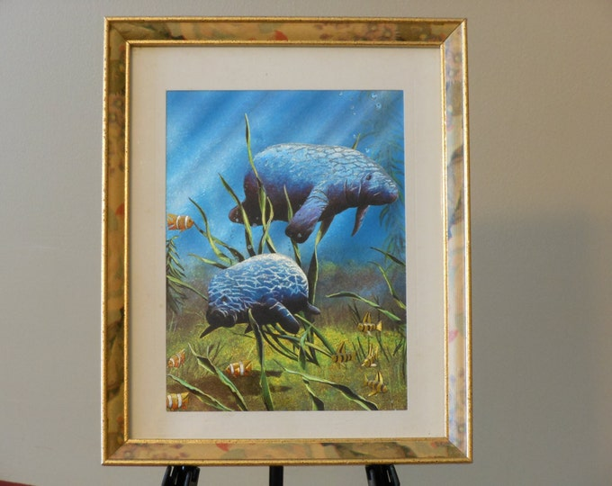 Manatees Serigraph Picture