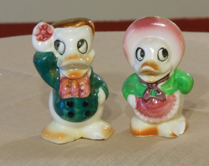 Vintage Duck Character Salt and Pepper Shakers