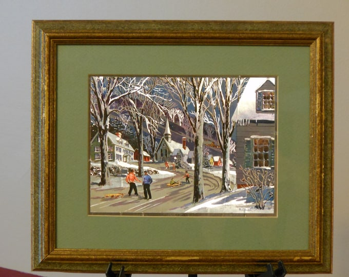 The Seasons: Four Framed Phil Austin Foil Prints