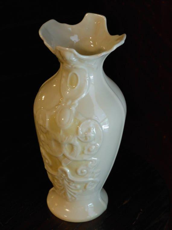 Belleek Irish Porcelain Vase Etsy