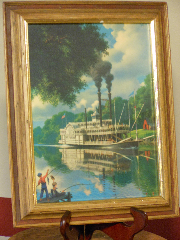 Paul Detlefsen's Old River Days Framed Print
