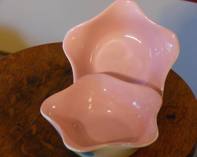 Pink and Polka Dot Breakfast Bowls
