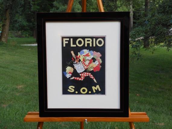 Obrazy i reprodukcje Florio Advertisement By Marcello Dudovich Canvas Art Poster Repro Print