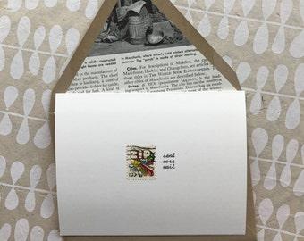 Vintage Postage Greeting Card, Send More Mail