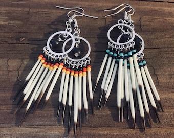 Hoop Tribal Onyx Quills
