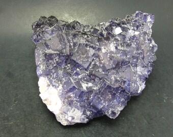 "Fine Purple Fluorite Cluster From Mexico - 4.7"""