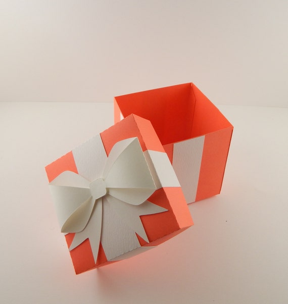 Gift box with bow Wedding Image Etsy Red Favor Box With Bow Bright Red Favor Box Red Gift Box Etsy