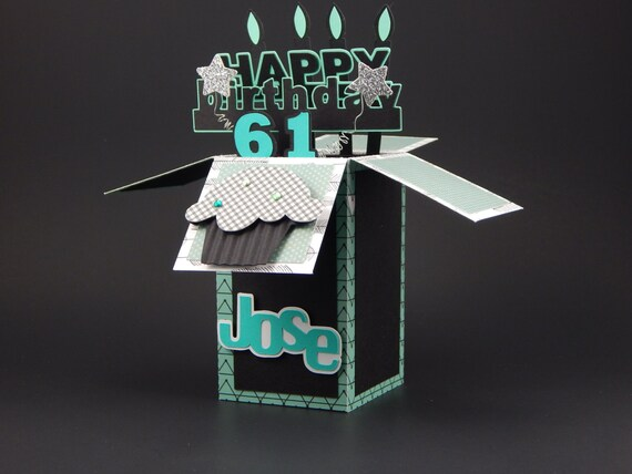 Happy Birthday Card In A Box Custom Birthday Card Happy Etsy
