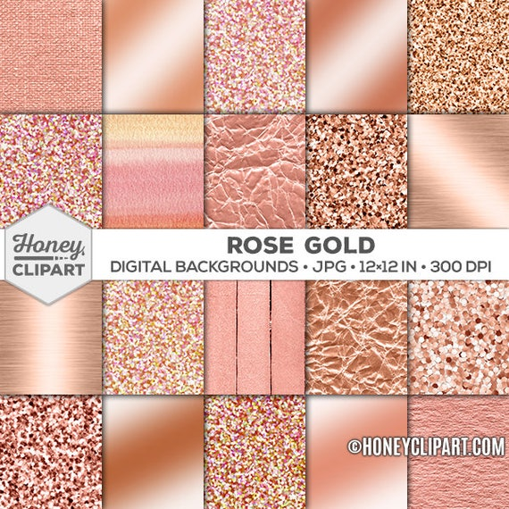 rose gold digital paper glitter background rose gold foil etsy