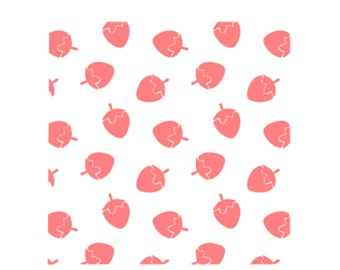 Strawberry Cookie Stencil Set, Strawberry Pattern Cookie Stencil