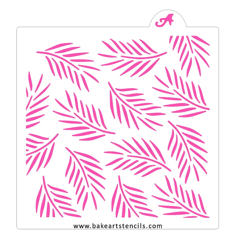 Palm Leaves Cookie Stencil Palm Fronds Cookie Stencil Palm image 0