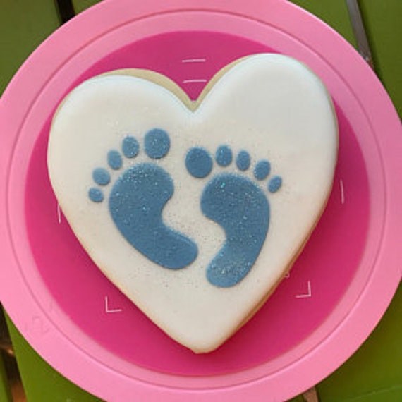 Baby Cookie Stencil Baby Shower Stencil Footprints Stencil Cookie Stencil Baby Stencil FAST Shipping!! Love Footprints Stencil