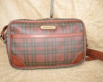 RALPH LAUREN Vintage Canvas and Leather Shoulder Bag Purse