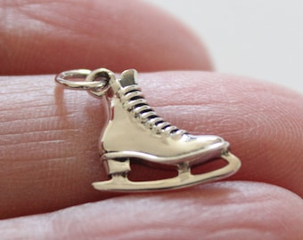 925 Sterling Silver Antiqued Ice Skate Charm