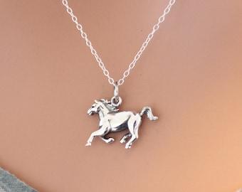 Silver horse pendant etsy aloadofball Gallery