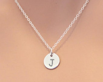 Tiny Capitol J Charm Necklace Sterling Silver c38ee2cefc5b