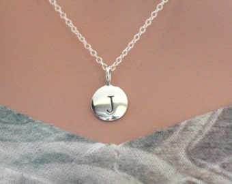 Sterling Silver Simple J Initial Necklace 44fb537a9ae7