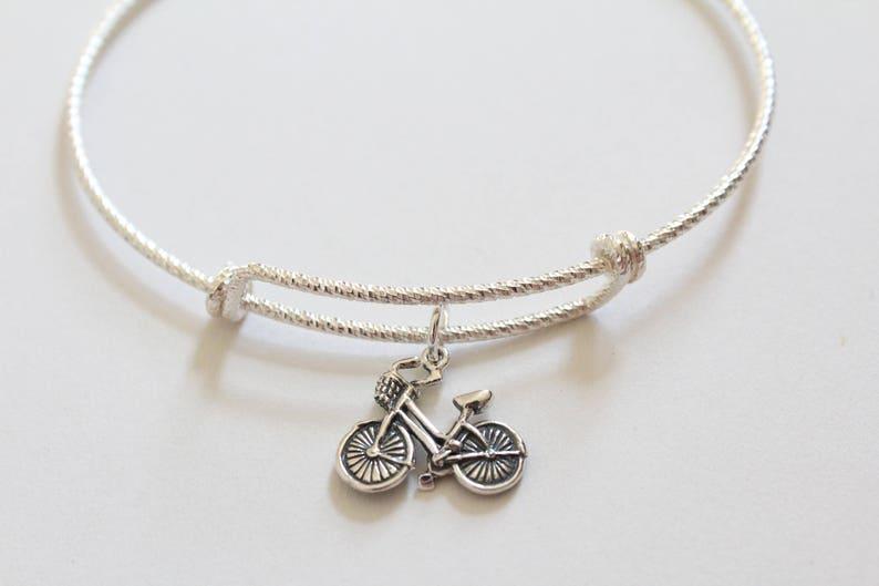 Bicycle Charm Bracelet Bike Sterling Silver Bracelet with Sterling Silver Bike Charm Bike Charm Bracelet Bicycle Bracelet Bike Bracelet